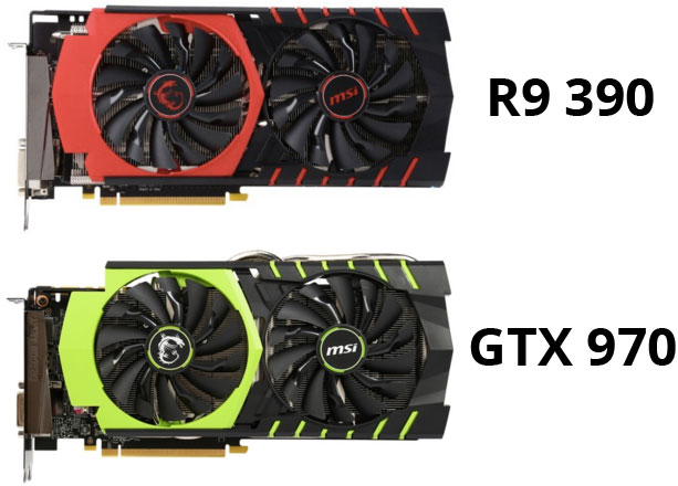 GTX 970 and R9 390
