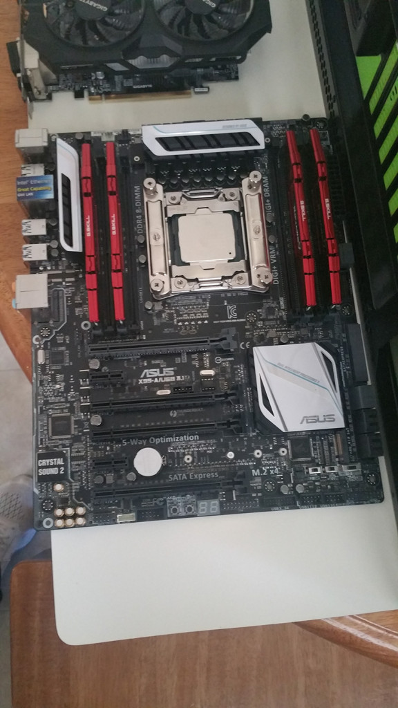 Jim's ASUS X99-A motherboard.