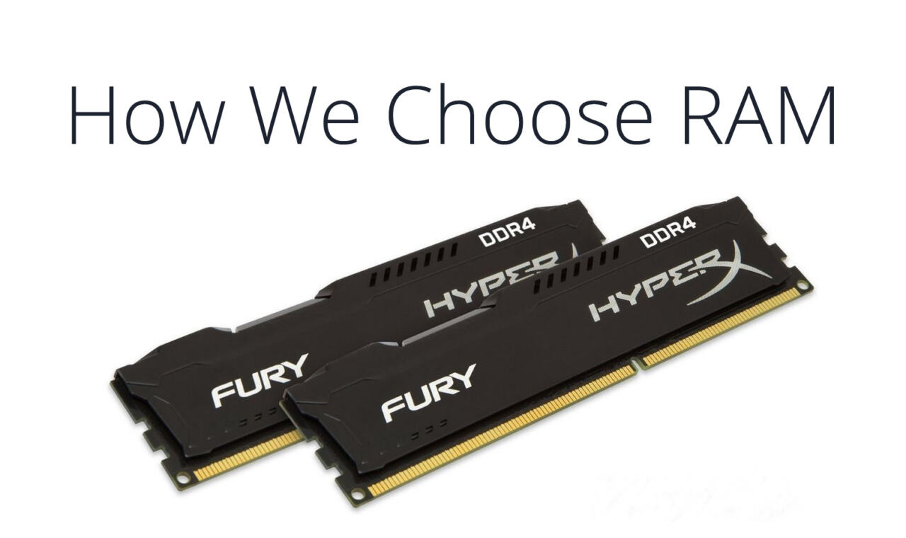 How to choose RAM