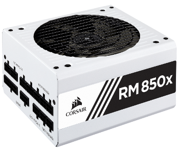 Corsair RM 850x Semi-passive Fan Power Supply quiet/silent PC Build